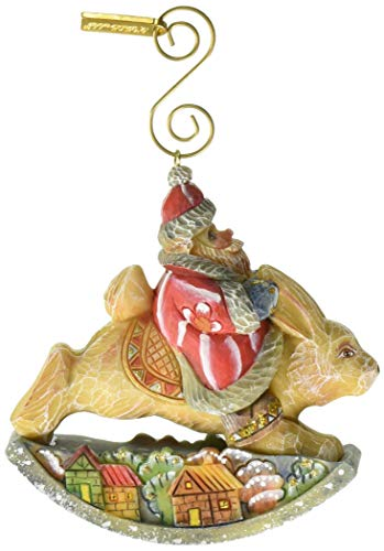 - G. Debrekht Santa On Rabbit Figurine Ornament