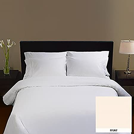 Kirkland Signature 100% Supima Cotton 600 Thread Count Ivory Fitted Sheet  Bed Linen, King