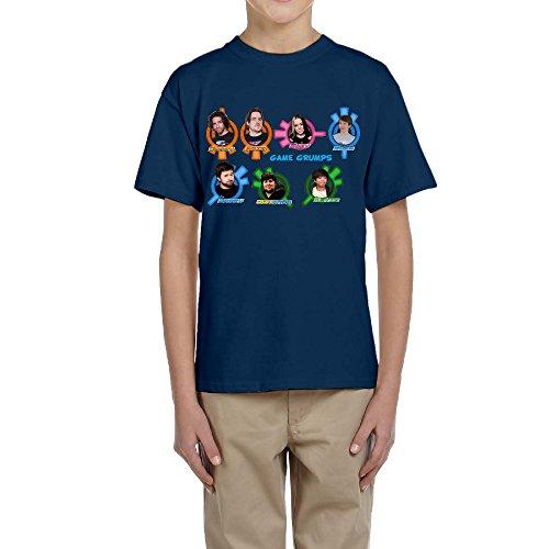 Refire Game Grumps Face Badges Kid's Game Grumps Face Badges Cotton T-shirt