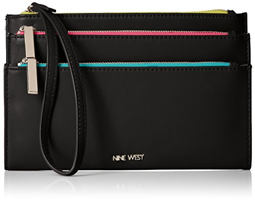 nine-west-table-treasures-tri-zip-wristlet-black