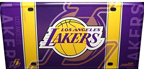 - Rico Industries NBA Los Angeles Lakers Metal License Plate TagMetal License Plate Tag, Multicolor, 0.25