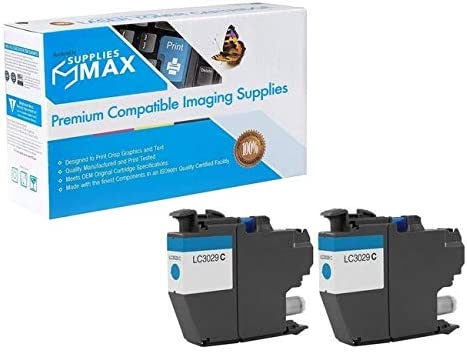 2//PK-1500 Page Yield LC-3029XXLC/_2PK SuppliesMAX Compatible Replacement for Brother MFC-J5830//J5930//J6535//J6935DW Cyan Super High Yield Inkjet