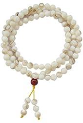 OrangeTag 108 Shell Beads Buddhist Prayer Meditation Rosary Prayer Mala