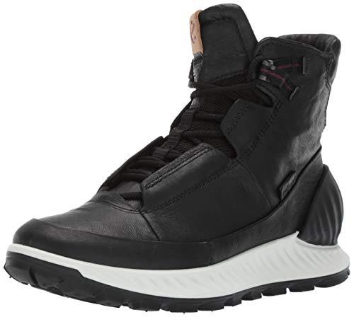 ECCO Men's Exostrike Mid Dyneema Outdoor Lifestyle, Fashion, Hiking Boot, black/black DYNEEMA leather, 40 M EU (6-6.5 US)