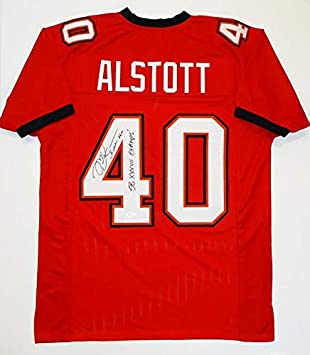 the latest 59172 ee47f Autographed Mike Alstott Jersey - Red Pro Style w SB Champs ...