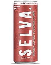 Selva by AUARA Refresco Ecológico de granada y limón, de Comercio Justo y Funcional, 330 ml, Pack de 24