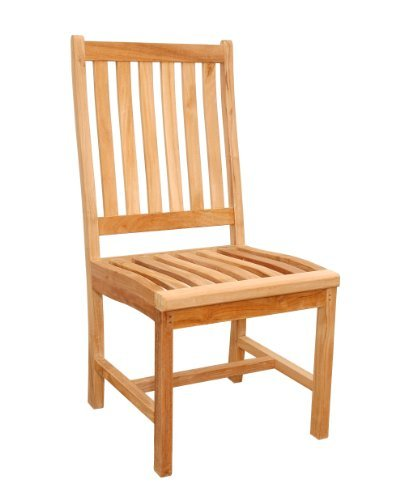 Anderson Teak Wilshire Slat Back Dining Chair - Unfinished