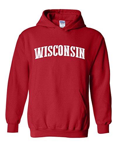 Ugo WI Milwaukee Map Badgers Panthers Home University of Wisconsin Flag Unisex Hoodie Sweatshirt