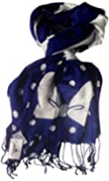 Disney Navy & White Minnie's Bow Scarf