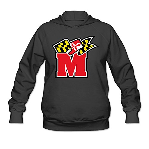 RABBEAT Women's Sweater University Of Maryland Terps Size L Black