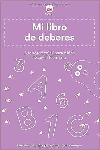PepMelon - Mi libro de deberes - Agenda escolar para niños ...