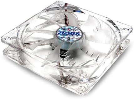 SF White ZM-F1 LED Zalman Ultra Quiet ZM-F1 80mm Blue LED Shark Fin Blade Case Fan Cooling