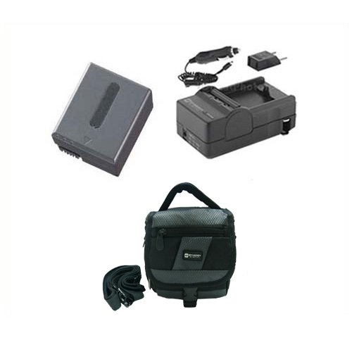 Sony DCR-PC350 Camcorder Accessory Kit includes: SDM-102 Charger, SDNPFF70 Battery, SDC-27 Case ()