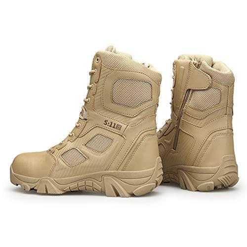Deserto DSFGHE Stivali Respirabile Stivali Militari Pattuglia Pivot Tattico Shock Uomini Assorbimento Gli Alpinismo di da Scarponi Leggero Stivali Sandcolor Nero zxzXqrUw