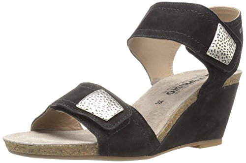 Mephisto Women's Jackie Wedge Sandal Black Vocal Premium 12 M US ()