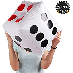 """13"""" Jumbo Inflatable Dice, Pack of 2"""