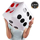 "13"" Jumbo Inflatable Dice, Pack of 2"