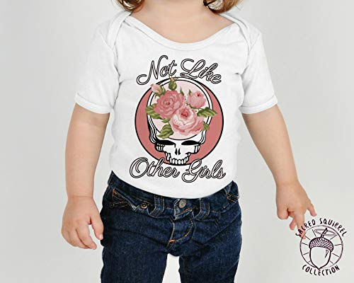 Grateful Dead Baby Bodysuit Dead Head like Mommy Steal Your Face Baby Mothers Day Gift Custom Mom 3-6 Months