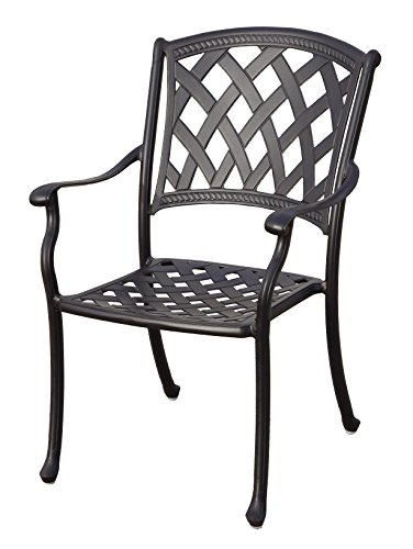 """Darlee 201630-7PC-30RE Cast Aluminum 7 Piece Rectangle Dining Set & Seat Cushions, 42"""" by 72"""", Antique Bronze - Weather-resilient hand made durable cast aluminum construction Powder-coated with elegant multi-step hand finish Sesame-colored seat cushion made of 100% polyester Chairs solid cast aluminum basket weave design seat, table includes removable umbrella hole cover, assembly required - patio-furniture, dining-sets-patio-funiture, patio - 41379JiRw6L -"""