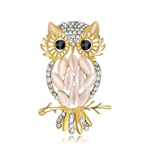 YFan Exquisite Owl Rhinestone Brooch Pins Women Cute Animal Jewelry Accessories ()