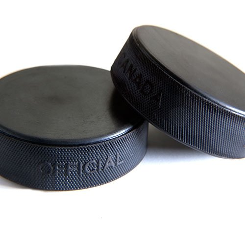 Howies Hockey Tape -50 Pack of Official 6oz. Black Hockey Pucks by Howies Hockey Tape
