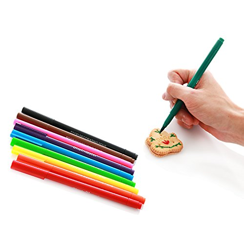 Chefmaster Double Sided Food Coloring Markers (10-Pack), Fine ...
