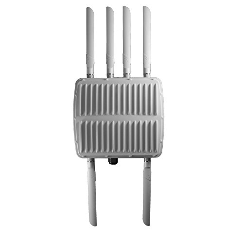 Hawking Technology Outdoor Wireless-1750AC Managed AP Pro Wireless-AC Concurrent Pole/Wall-Mount PoE Enabled Access Point (HOW17ACM)