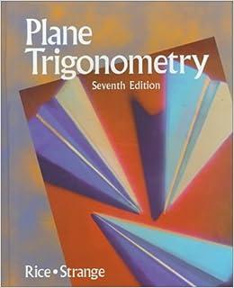 Plane Trigonmtry