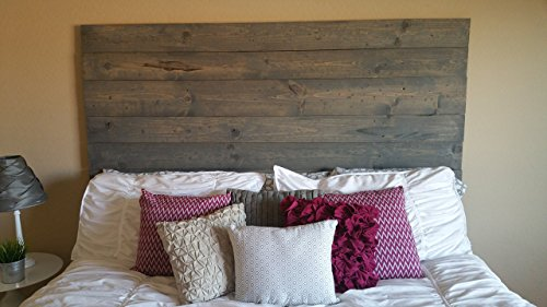 Custom Made Rustic Wood Plank Headboard King
