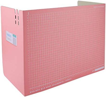 Tragbarer Faltbare Dämmplatten Isolation Bord Gegenschutz für Nieschutz für Bürosicherheit, Mitarbeiter, Arbeiter, Cus,Büro, Schule (Rosa)