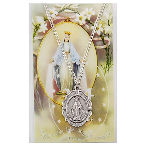 Miraculous Prayer Card Set, Silver OX Medal Includes 18