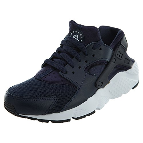 Nike Kids Air Huarache Run Gs Fashion Sneakers Ossidiana / Ossidiana-bianco-nero
