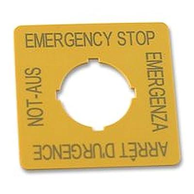 ÉTIQUETTE 4 Interrupteur d'arrêt d'urgence langue composants Legends, étiquette, arrêt d'urgence, 4 langues, pour une utilisation avec : RMQ Titan série Bouton Interrupteur d'arrêt d'ur