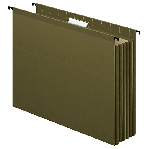 Pendaflex SureHook Reinforced Extra Capacity Hanging Pockets, Letter Size, Standard Green, 4/PK (09217)