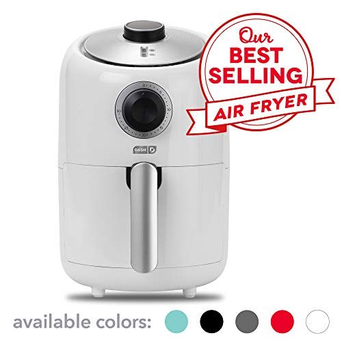 - Dash Compact Air Fryer 1.2 L Electric Air Fryer Oven Cooker with Temperature Control, Non Stick Fry Basket, Recipe Guide + Auto Shut off Feature - White