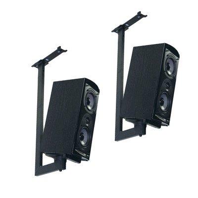 Pinpoint Mounts Bracket Side Clamping Bookshelf Speaker Ceiling Mount With Tilt & Swivel (Pair) - Black (AM41C-BLACK) by Pinpoint Mounts