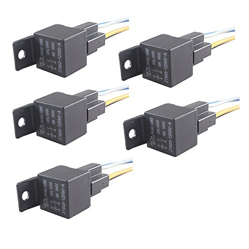 ESUPPORT Car Relay 12V 40A SPST 4Pin Switch