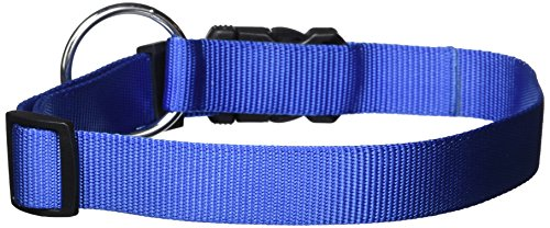 (Dogit Nylon Adjustable Single Ply Dog Collar with Plastic Snap, X-Large, 1-Inch, Blue)