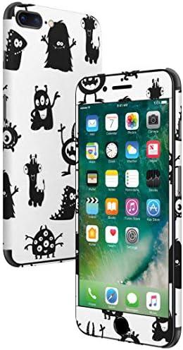 igsticker iPhone SE 2020 iPhone8 iPhone7 専用 スキンシール 全面スキンシール フル 背面 側面 正面 液晶 ステッカー 保護シール 008371 アニマル 白黒 モンスター 模様