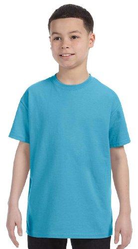Jerzees 29B Youth 50/50 T-Shirt - AQUATIC BLUE - ()
