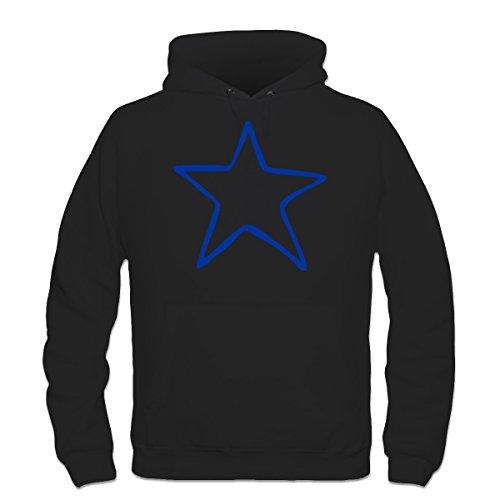 Shirtcity Star Scribble Hoodie S Black (Scribble Stars)