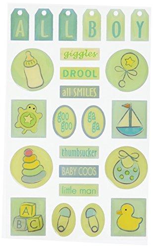 Sandylion PGEMAR3 SBACT BEGINNINGS BABY BOY GEMS ACT. STICKER - (Baby Boy Gem Sticker)