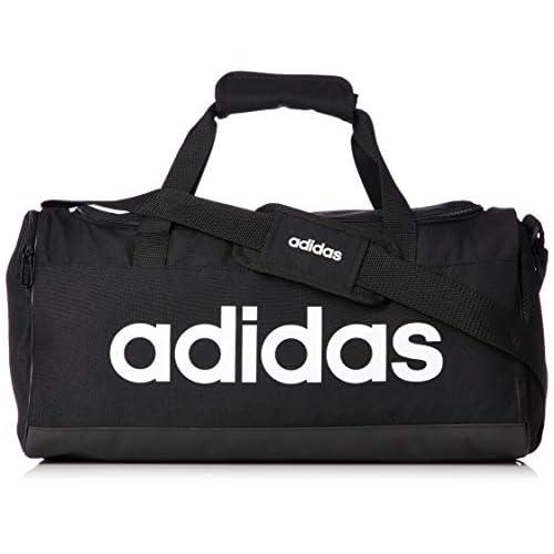 adidas Lin Duffle S Gym Bag Unisex Adulto Black Black White NS