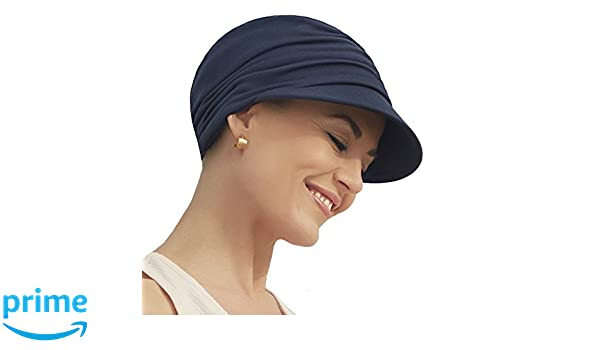 Gorra oncológica ultra transpirante Bella con visera y Technology 37.5® color azul oscuro para mujeres en tratamiento con quimioterapia: Amazon.es: Deportes ...