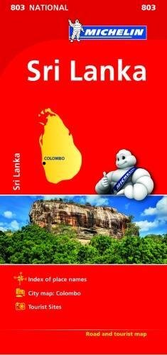 Sri Lanka National Map 803 2018  Michelin National Maps