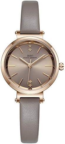 Ladies watches Leather strap Round case Analog fashion Ladies watch Wrist watches