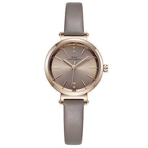 Women Watches Leather Strap Round Case Analog Fashion Ladies Watch on Sale Wrist Watches (8688 Grey)