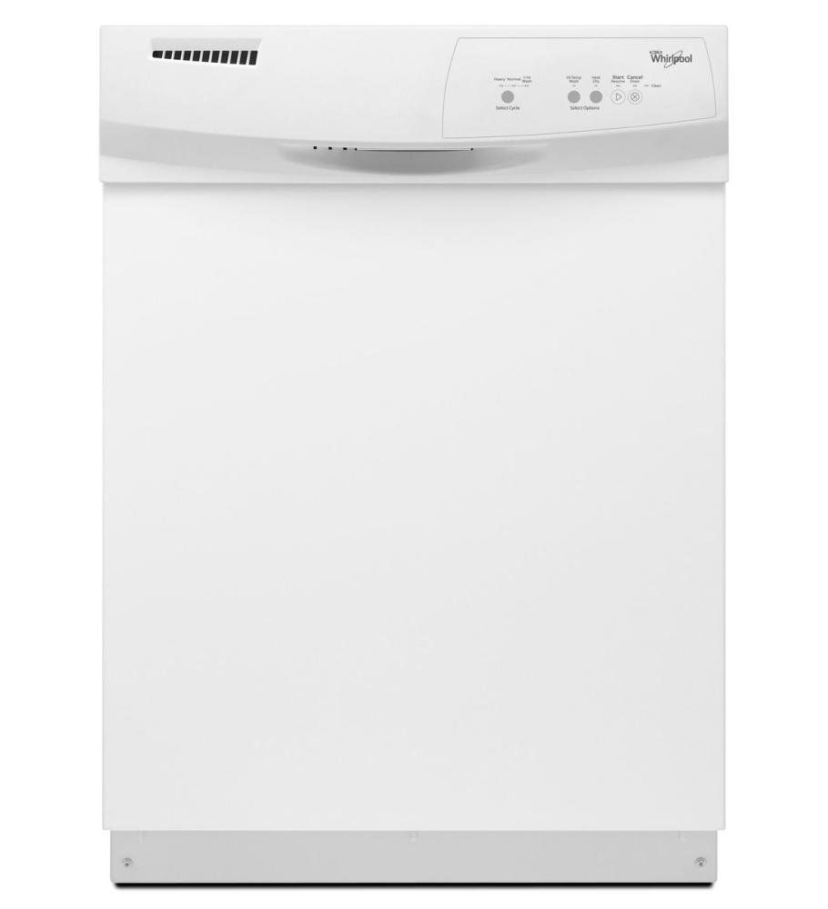WHIRLPOOL DISHWASHERS 293414 Tall Tub Built-In Dishwasher With Front Controls, 3 Cycles / 2 Options, 24'', White
