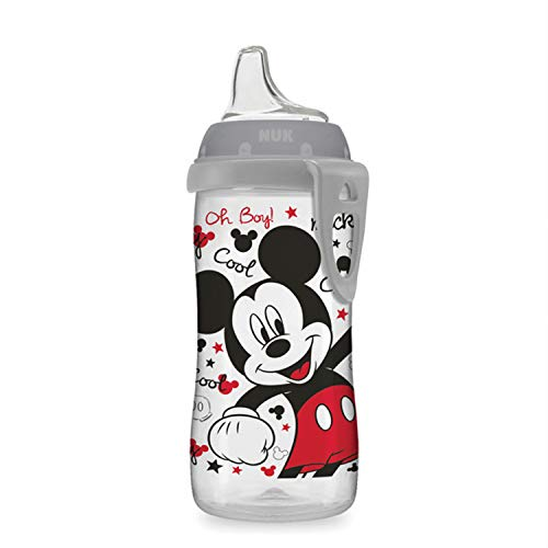 NUK Disney Active Sippy Cup, Mickey Mouse, 10oz 1pk (Best Sippy Cup For 14 Month Old)