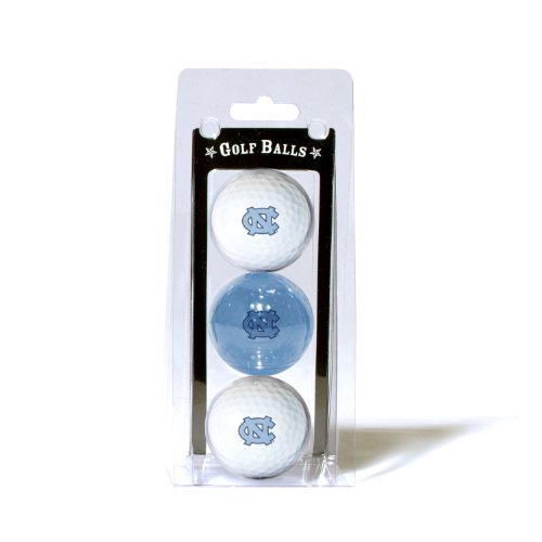 Team Golf NCAA North Carolina Tar Heels Regulation Size Golf Balls, 3 Pack, Full Color Durable Team ()